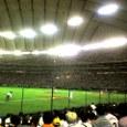 野球観戦中